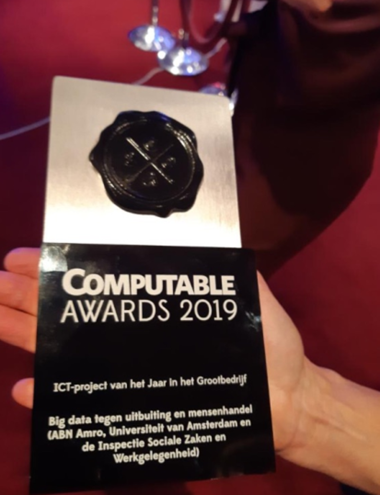 Dutch Computable Award 2019 for Big data human trafficking project